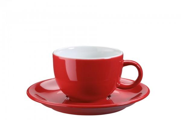 "Tasse Untere Kaffee/Capp. ""Barista"" Ø15cm rot VPE 6"