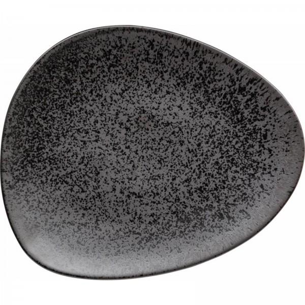 "Teller flach Serie ""Ebony"" 30,6x26 cm, schwarz"