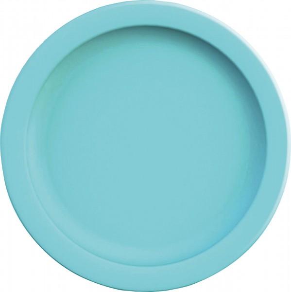 Teller flach 24 cm hellblau Kunststoffspülmaschinenbeständig,Mikrowellengeeignet
