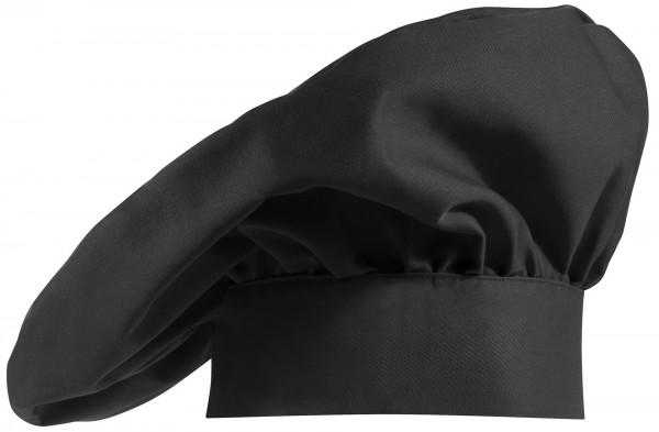 Kochmütze franz. Form 2er Pack Schwarz 65% Polyester/35%