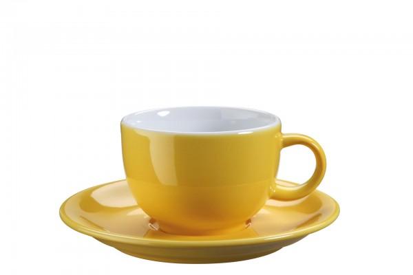 "Tasse Untere Kaffee/Capp. ""Barista"" Ø15cm gelb VPE 6"