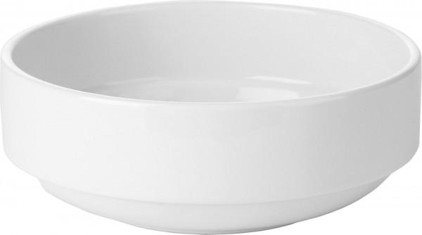 Schale 11,2cm weiß Porzellan Stapelbar