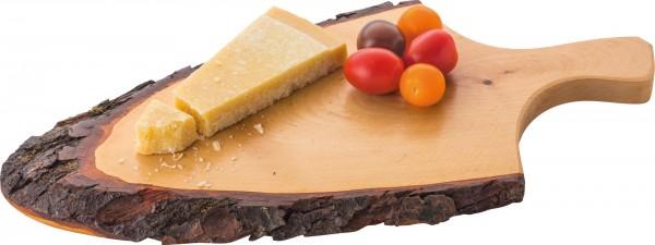 Rindenholzbrett mit Griff Erle ca. 38 x 17 x 2 cm